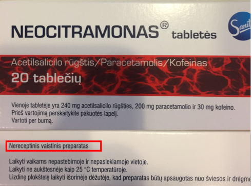 neocitramonas nereceptinis