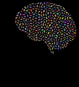 Priklausomybė: žmogaus galva su tabletėmis viduje