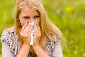 Žmogus su alergija
