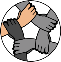 Susikibusios rankos