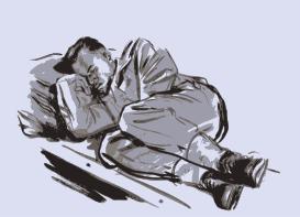 Žmogus miega